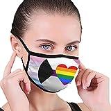 Bigender Demisexual Homoromantic Pride Flag Unisex Face Mask to Prevent The Fog and Anti-Dust Black