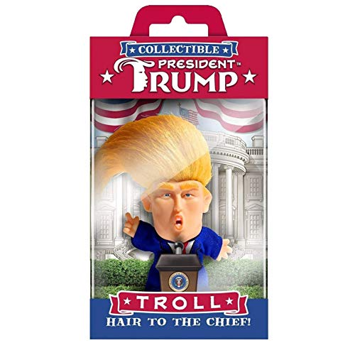 1 mueca coleccionable President Troll  Hair to The Chief Home Decoration-Juguetes Coleccionables mueca Troll President  Hair to The Chief Home Decor mueca mesita de noche