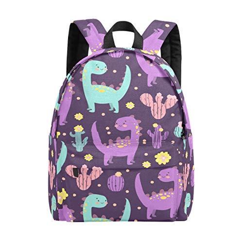 School Backpack for Girls Boys Adorable Cute Colorful Dinosaur Cactus School Bag Lightweight Bookbag Travel Bag Large Laptop Bags Backpack for Men Women