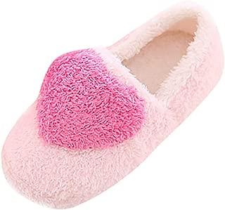 QIMITE Hiver Pantoufles Femmes en Mousse,Automne Hiver Accueil Chaleureux Les Chaussons Chaussures en Coton Femmes Chaussons Moelleux avec Un Arc Les Chaussons Rose