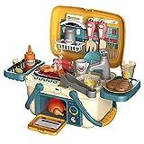 Tastak Fregadero de cocina de simulación Cesta de picnic portátil Juguetes de cocina para niños con luz y música, Horno de juego de simulación y Cocina Juguetes de cocina Accesorios para niñas Niños N