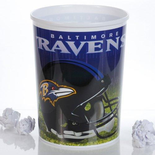 NFL Baltimore Ravens Plastic Football Wastebasket