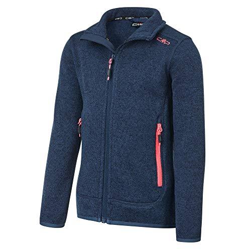 CMP Mädchen Girl Jacket Fix Hood Kapuzenjacke, Marine-Flamingo, 152