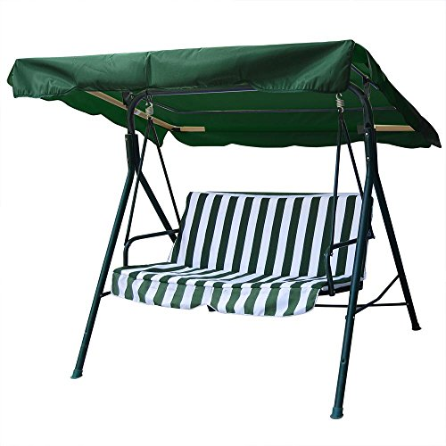 Yescom 64 15/16' x 47 1/4' Deluxe Outdoor Swing Canopy Replacement UV30+ 180gsm Porch Top Cover for Patio Yard Seat