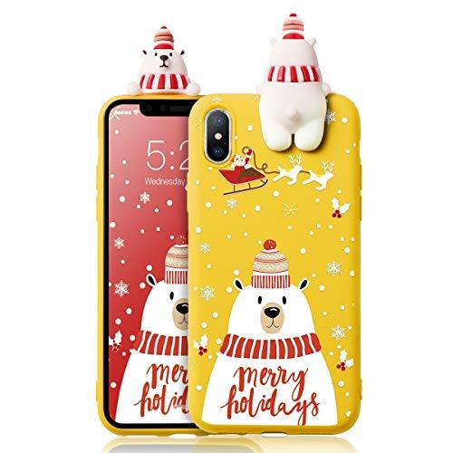ZhuoFan Cover iPhone 7 Plus / 8 Plus, Custodia Silicone con Disegni Ultra Slim TPU Morbido Antiurto Christmas Cartoon Pattern con Bambola Bumper Case Protettiva per iPhone 7 Plus / 8 Plus, 07