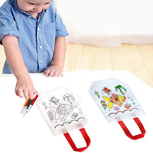 Sklepee Bolsas de graffiti, 12 bolsas de papel de graffiti, no tejidas para niños, bolsas de manualidades y manualidades reutilizables para rellenar el color de la fiesta para niños