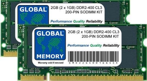 Memoria RAM DDR2 de 2 GB (2 x 1 GB, 400 MHz,...
