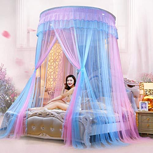 Willlly Dome prinses zijdenmousselin Chic muggennet casual bed canopy deken dubbele bodem muggennet gordijn B-stijl oosters zacht decoratie huis Size Kleur: zwart/bruin,