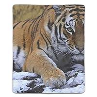 ゲーム用マウスパッド テーブルマット 厚さ3mmのゴム製 滑り止め ラップトップ 虎の雪が足の目を横に