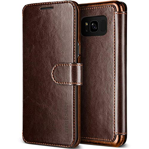 VRS DESIGN Galaxy S8 Leather Wallet Case