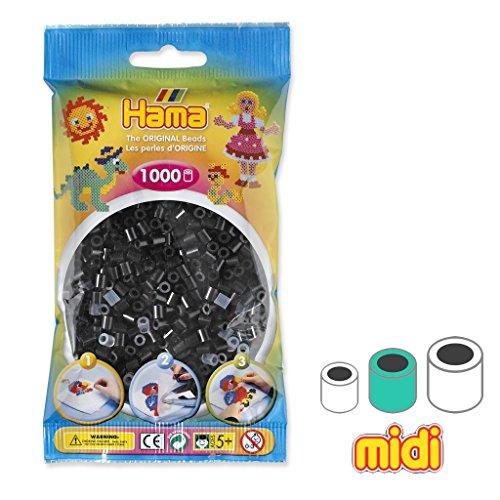 Hama Perles ? Repasser MIDI 5 mm Noir (n?18) x1000