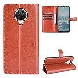 Nokia G10/G20 Hülle [Brieftasche] [Klammerfunktion] [Kartenfächer] [Magnetic Flip Cover] Kompatibel mit Nokia G10/G20 Smartphone(Braun)