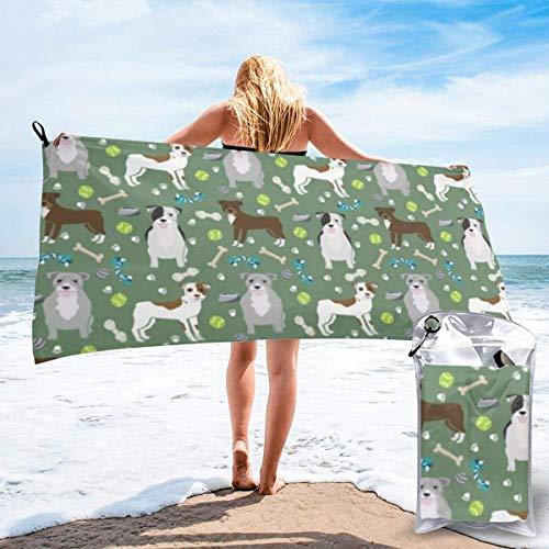 Bathroom Towels Shower Towels Toalla de playa de microfibra para perros Pitbull Beach Towels 140 X 70