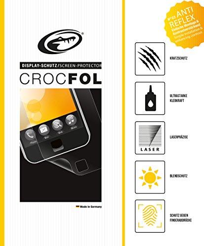 CROCFOL ANTIREFLEX 5K HD Schutzfolie für das Navigon 40 Premium / Plus. Entspiegelnd (ANTI-GLARE) und Schutz gegen Fingerabdrücke (ANTI-FINGERPRINT). 3D Touch Folie für das Original Navigon 40 Premium / Plus. Hergestellt in Deutschland.