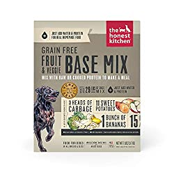 The honest kitchen dog food grain free fruit and veggie base mix