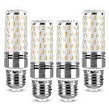 Bombillas LED Tipo maíz E27 12W 1320LM Bombillas LED Tipo candelabro, Equivalente incandescente de 120W, Bombillas LED E27 de Tornillo Edison, Ahorro de energía, No Regulable, Paquete de 4