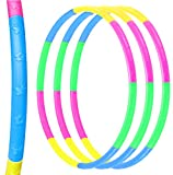 3 Pack Exercise Hoops for Kids, Detachable Adjustable Weight/Size Plastic Kid Hoops,Suitable for Sports Game,Fitness,Gymnastics,Dance and Pet Training