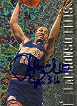 Autograph Warehouse 52216 Laphonso Ellis Autographed Basketball Card Denver Nuggets 1996 Fleer Metal No .25