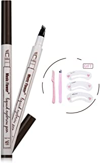 Eyebrow Tattoo Pen-Eyebrow Pen Waterproof Microblading Eyebrow Pencil with a Micro-Fork Tip Applicator Creates Natural Looking Brows Effortlessly