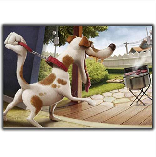 Yycsqy 5D diamantschilderij om zelf te maken, borduurset, wanddecoratie, borduurwerk, hond en grill, strass, kruissteek, strass, bloemenpatroon, 40 x 50 cm
