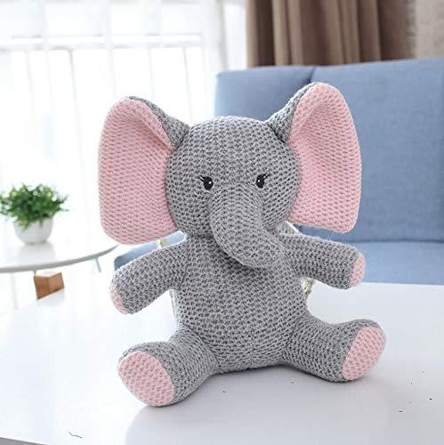 N / A Heißer gestrickter Elefant Hase Dinosaurier Kuscheltier Spielzeug Spielzeug Sicherheit Baby Spielzeug Kleinkind Schlaf Appease Puppe ca. 22X11cm