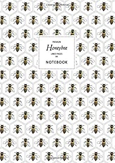 Honeybee Notebook - Lined Pages - A4 - Premium: (White Edition) Fun notebook 192 lined pages (A4 / 8.27x11.69 inches / 21x...