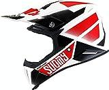 Suomy X-Wing Grip Casco Motocross Bianco/Nero/Rosso