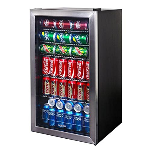 NewAir 126 Can Freestanding Beverage Fridge, Stainless Steel - Limited...