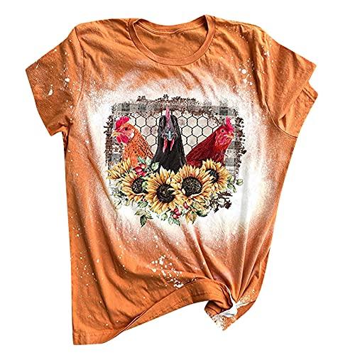 Wave166 Camiseta de manga corta para mujer EMT Life con inscripción impresa, camiseta de manga corta, camiseta de verano, camiseta de Halloween, 4-naranja, M