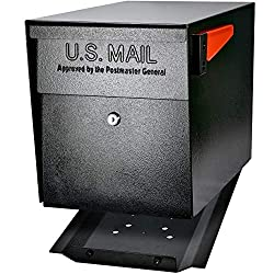 commercial Mail Boss 7106 Curbside Security Locking Mailbox, Black, Medium secure mailboxes