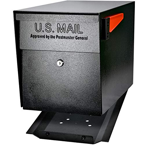 Mail Boss 7106 Curbside Security Locking Mailbox, Black,Medium
