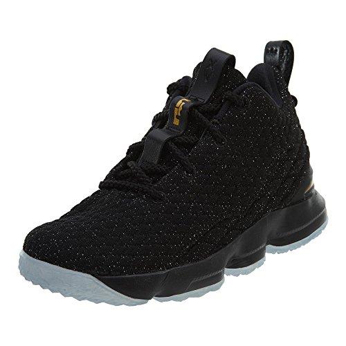 Nike Lebron XV (PS) Boys Fashion-Sneakers 922812-006_11C - Black/Metallic Gold-Black