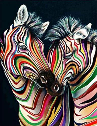Puzzlecao Italy Puzzle 500 Pezzi Colore Zebra Immagine a Colori in Legno di Alta qualità Pittura a Olio Paesaggio Animale Natura Decorazione della Famiglia Arte Adulto Bambino Soggiorno