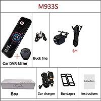 車のDVRバックミラー1080P + 1080Pデュアル車載用DVD取り付け簡単 (Size:16G; Color:M933S10mBL)