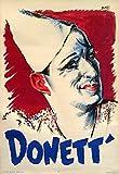 Póster de payaso de Donett francés de Bois 1930