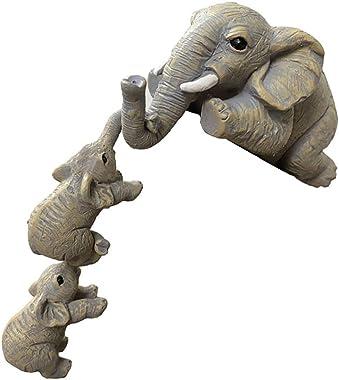 UPKOCH 3pcs Resin Elephant Family Statue Ornament Cartoon Crafts Elephant Figurines Wealth Lucky Sculpture Crafts Home Decora