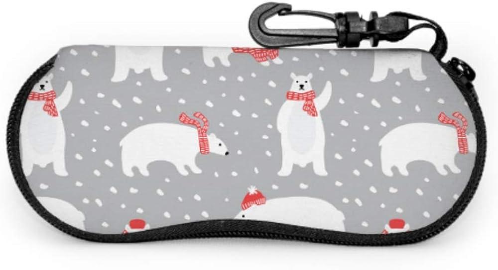 Artoon Animated Cute Animal Polar Bear Childrens Glasses Case Eyeglass Case Soft Light Portable Neoprene Zipper Soft Case Glasses Cases For Boys