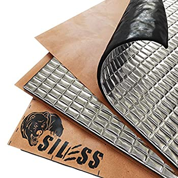 Siless 80 mil  2mm  36 sqft Car Sound Deadening mat - Butyl Automotive Sound Deadener - Noise Insulation and Vibration Dampening Material  36 sqft