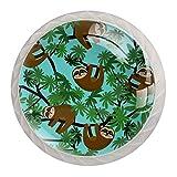 Tirador de manijas de cajón para el hogar, cocina, tocador, armario-perezoso del árbol de la selva