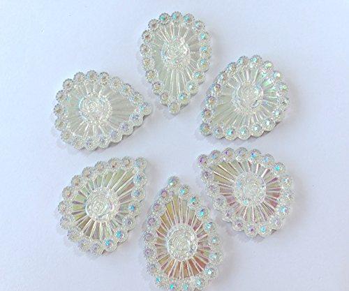 Nouveau Mode Effacer la couleur à coudre Big Galets Forme de goutte Cristal 30 x 40 mm 2 trous de pierres précieuses Lot de 20