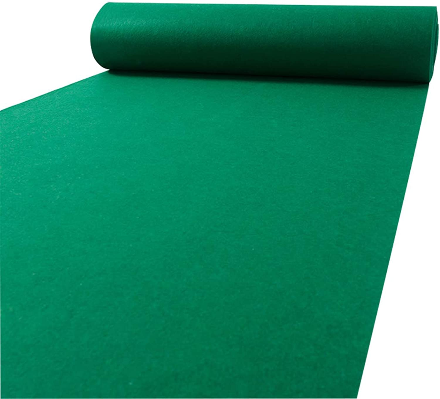 Wedding Carpet Runner, Green Carpet Foot Pad Thicker Wedding Ceremony Blanket Stage Exhibition Rug,Thickness 2mm