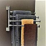 Lepose Stainless Steel Swivel Towel Rack for Bathroom Swivel 4-arm Bathroom Swing Hangers for Bathroom/Towel Hanger Holder