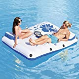 HYQ Aufblasbare Hangematte Pool, Air Sofa Schwimm Sessel Bett Drifter Pool Beach Float Mit Elektrischer Luftpumpe, Bietet Platz Für 2 Personen (87 * 69In)