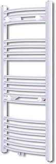 UnfadeMemory Radiador Toallero Agua Calefaccion de Pared con Estilo de Curva para Calentador de Toallas y Calentador de Espacio,Acero (500x1160mm, Blanco)