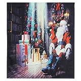 Fdit Cortinas navideñas navideñas, Cortina Impermeable con Ganchos, Cortinas para Ventana, baño, decoración del hogar, (1 Panel)(5#)