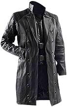Men's Adam Jensen Human Revolution Black Faux Leather Coat | Men's Long Leather Coat