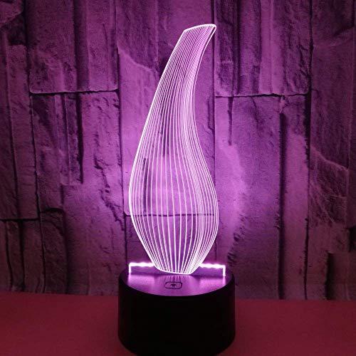 Fles 3D Licht Kleurrijke Touch Afstandsbediening 3DLED Visuele Licht vaas Gift 3D Kleine Tafellamp