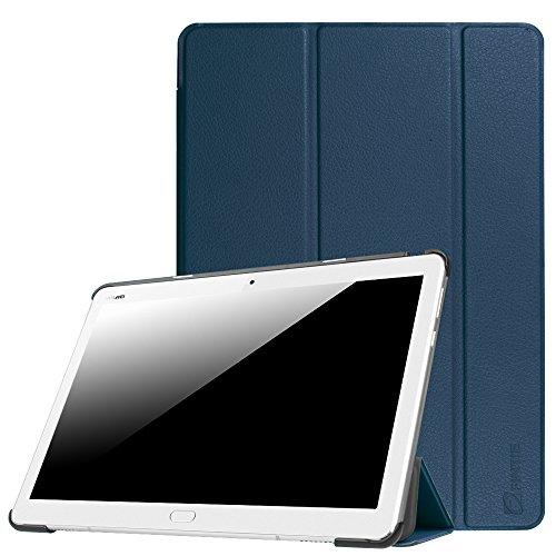 Fintie Hülle für Huawei Mediapad M3 Lite 10 - Ultra Dünn Superleicht SlimShell Hülle Cover Schutzhülle Etui Tasche mit Zwei Einstellbarem Standfunktion für Huawei Mediapad M3 Lite 10 Zoll, Marineblau