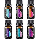 Top 6 Blends Essential Oils Set - Aromatherapy Diffuser Blends Oils for Sleep, Mood, Breathe, Muscle Relief, Temptation, Feel Good, Anxiety Relief