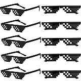FSMILING - Occhiali da sole Thug Life, confezione da 10 pezzi, per adulti e bambini, 8 bit Pixel Mosaico, occhiali da sole unisex